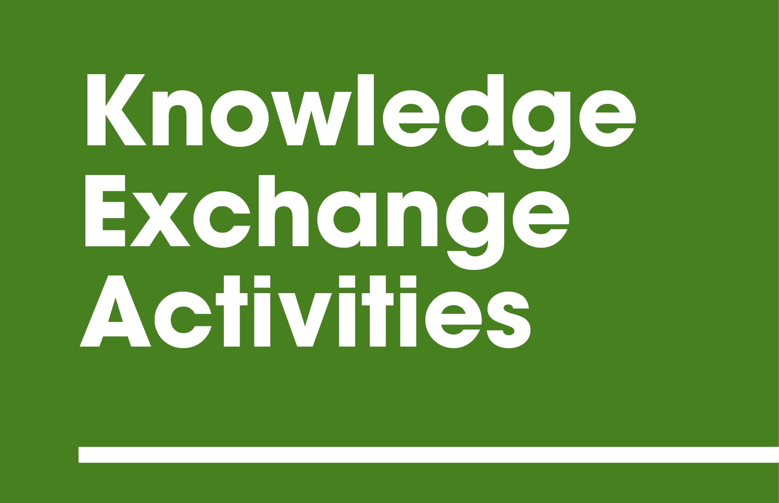 Knowledge Exchange Activities